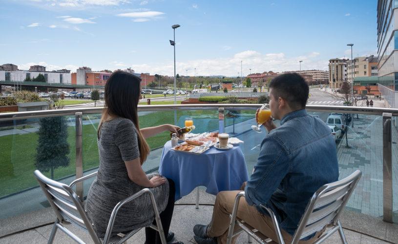 Desayuno en la terraza del Hotel La Polar