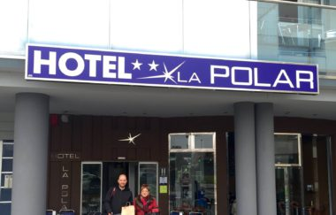 Peregrinos en el hotel La Polar - Gijón